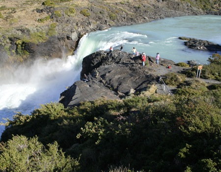 Large Paine Waterfall, Torres del Paine, Chile