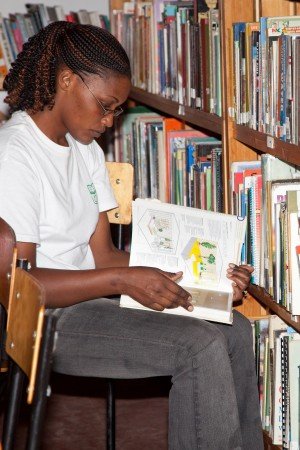 Jifundishe student 300x450 Beyond Books in Tanzania, Part II: Deb Kelly and the Jifundishe Free Library