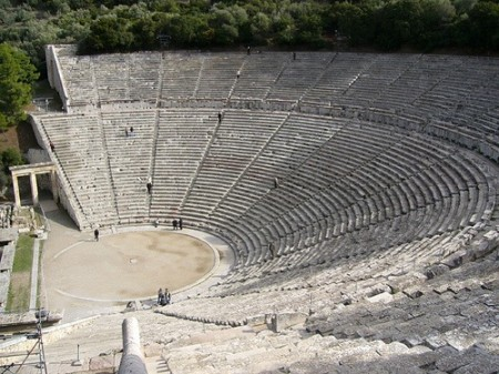 Ancient Theatre of Epidaurus, Peloponnese, Greece