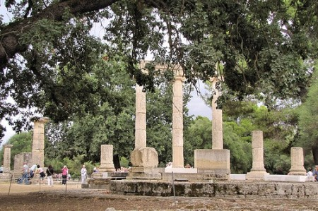 Temple of Philippeion, Olympia, Peloponnese, Greece