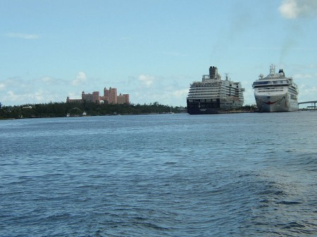 Cruise ships in the Bahamas