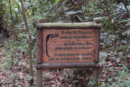 tayrona national park santa marta colombia sign 450x299 Worth the Journey! Tayrona National Park, Colombia