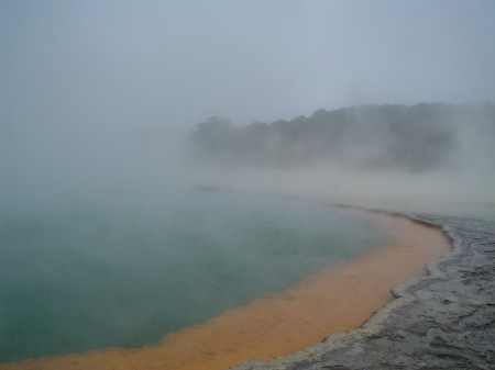 Experiential Travel - Adrian Cordiner - sulphur pools - New Zealand