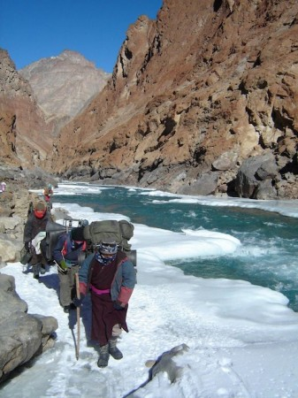 Trekking on the Chadar Trek in Ladakh, India
