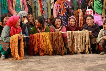 Women in the Spiti Valley of India