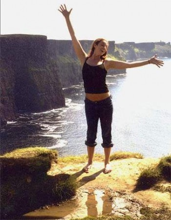 Nolan in her pre-jethiking days at the Cliffs of Moher, Ireland. Photo courtesy of Amber Nolan