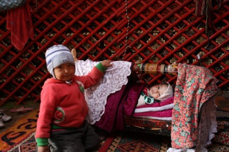 Meeting the family is part of warm welcome of Kyrgyz hospitality