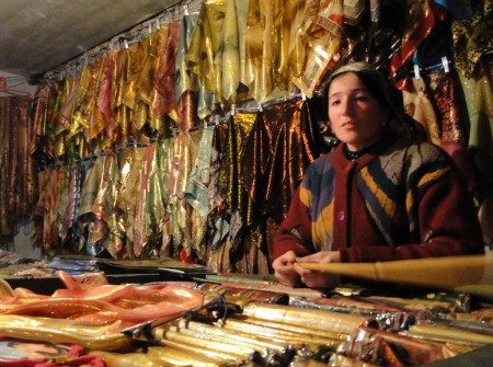 Click to enlarge: Colourful clothing of Central Asia