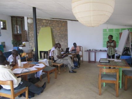 Chimwemwe Siyabu speaks at the Ecotourism Training Day in Malawi