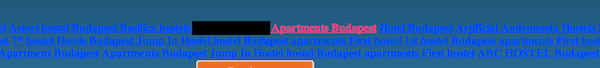 Screenshot of a hotel website with content that isn't relevant