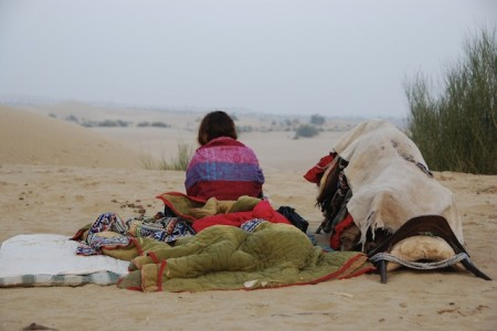Camping in the deserts of northeastern India
