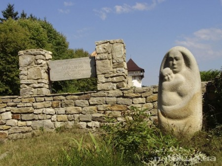 Art in the sculpture park of Bucha, Ukraine