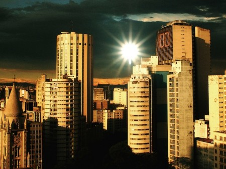 Buildings at the centre of São Paulo, Brazil