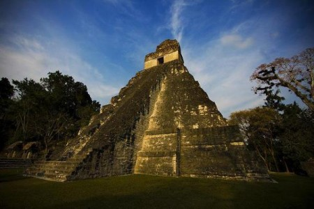 Tikal Temple is one of the largest pre-Columbian Mayan archaeological sites