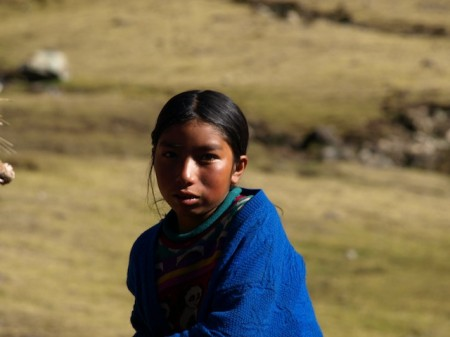 Girl from Patacancha, near Ollantaytambo, Peru