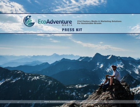 Cover page of the EcoAdventure Media media kit