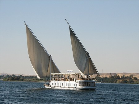 Dahabeah on the Nile in Egypt