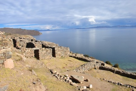 Ancient ruins of an Inca temple, Sun Island (Lake Titicaca), Bolivia