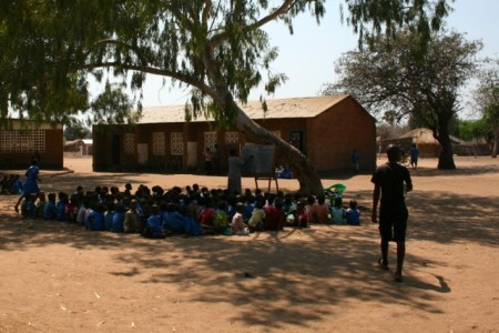 Children of the Makawa Primary School catchment in Malawi