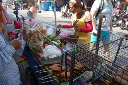 street vendor, Bangla Road, Patong, Phuket, Thailand