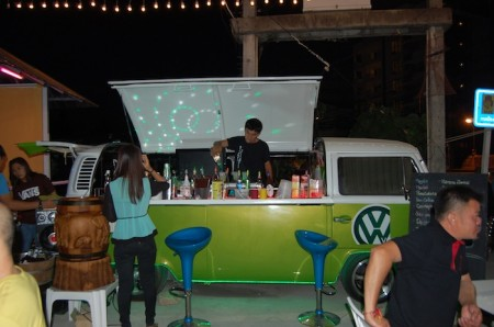 Volkswagen bar at night markets of Phuket, Thailand