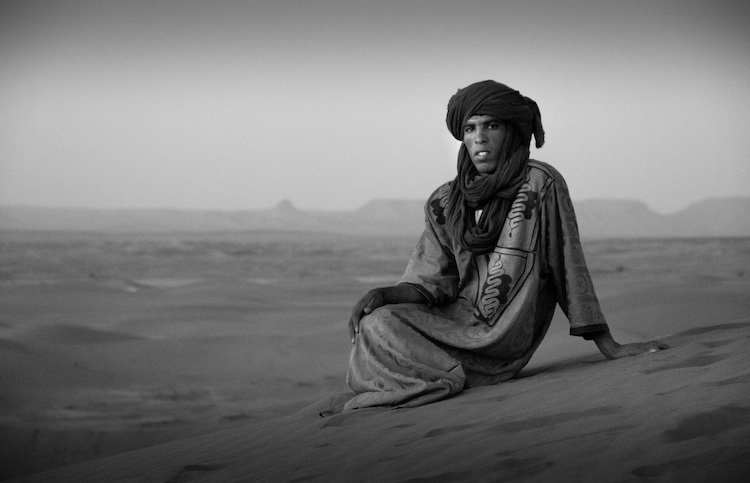 A Bedouin man in his element: the Sahara of Morocco