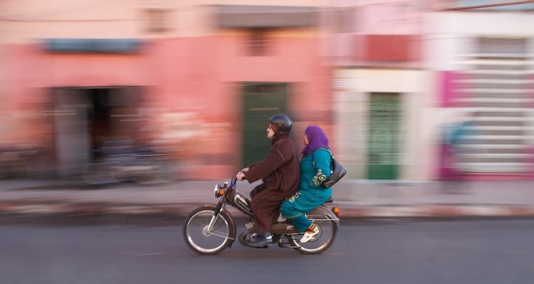 A commute in Marrakech, Morocco
