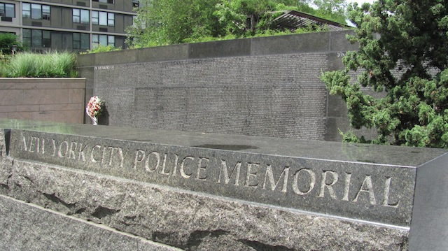New York City Police Memorial in Battery Park City, New York