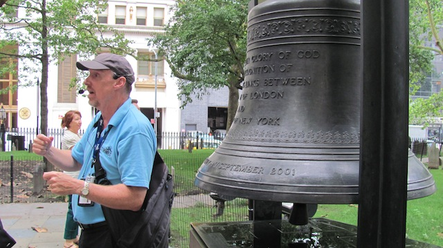 The Bell of Hope at St Paul's Chapel in New York City