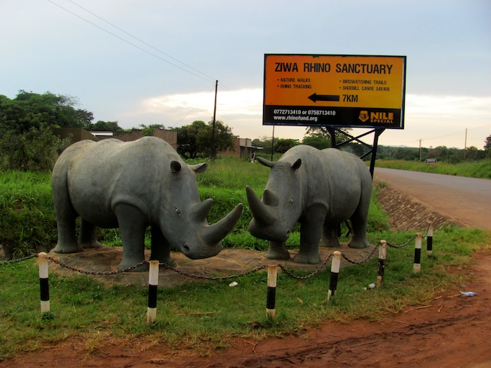 Ziwa Rhino Sanctuary road sign, Uganda