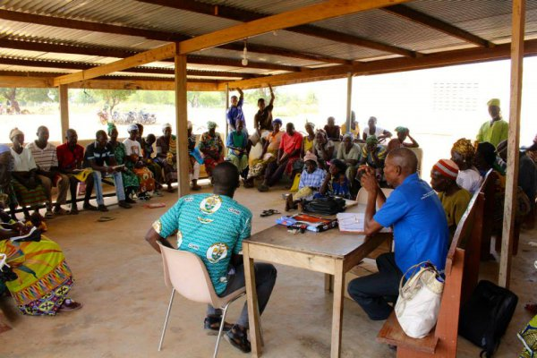 A local community engagement workshop in northern Ghana