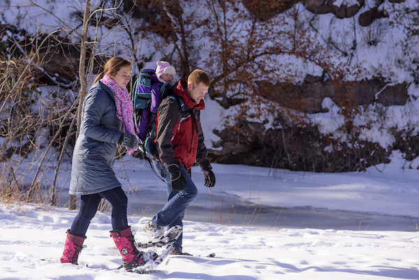 Snowshoeing (as a family) in South Dakota