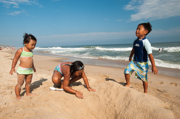 Kids at Montauk Beach, New York. Photo courtesy of I Love NY