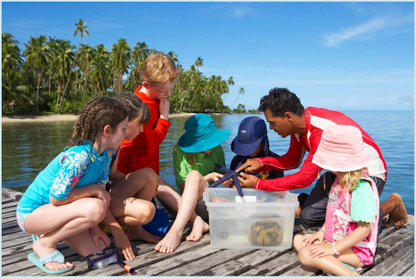 family travel and responsible tourism: learning about marine life in Fiji