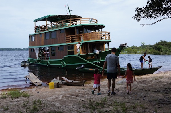 River cruise ship in the Brazilian Amazon