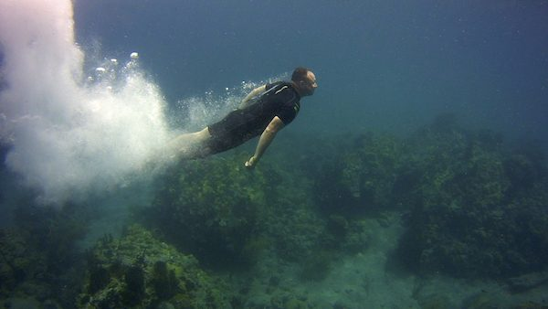Paul Zanelli, feeling free beneath the waters of Dominica