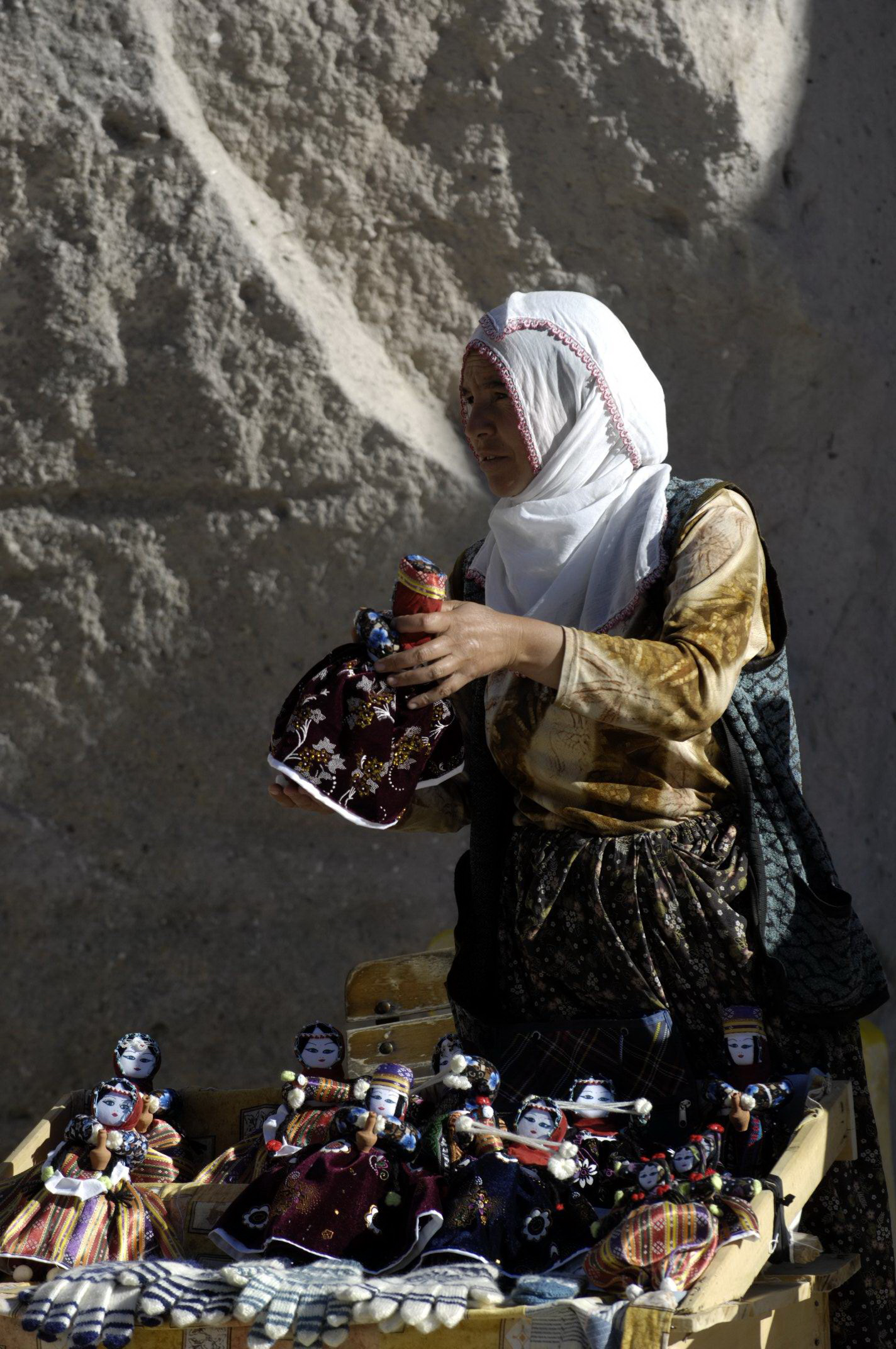 The local doll market of Soganli Village is the best place to buy Cappadocia's famous handmade dolls