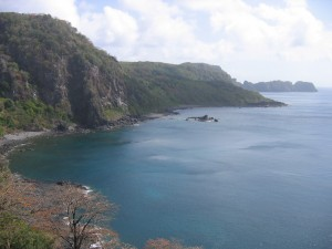 What a reward: the view of Dolphins Bay after a pleasant hike
