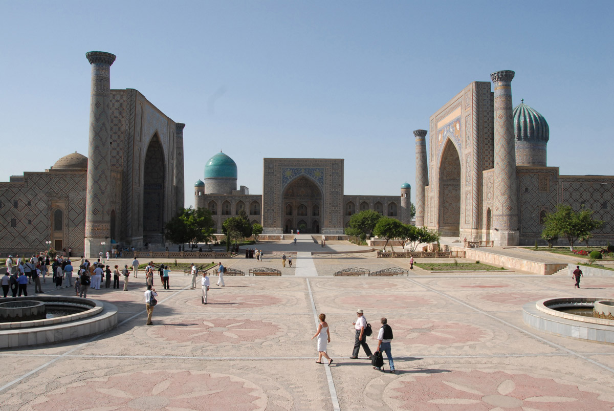 Samarkand's Registan Square is a symbol of the city