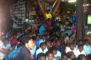 Video night with the local community at Epi Island Guesthouse, Vanuatu
