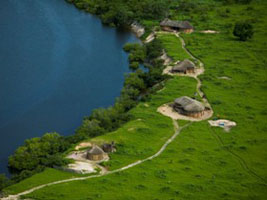 An eagle-eye view of the Keur Bamboung ecolodge