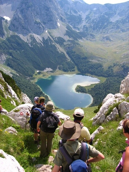 Hikers in the Bosnia and Herzegovina highlands