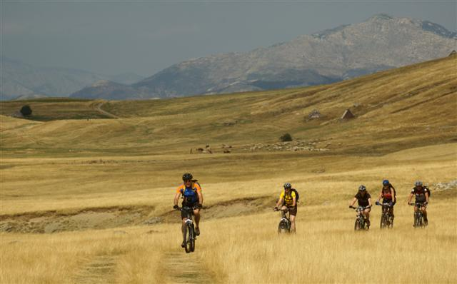 Bikers on a Montenegro Adventures 14-day pilot biking tour designed by CSTI in cooperation with the National Tourism Organization