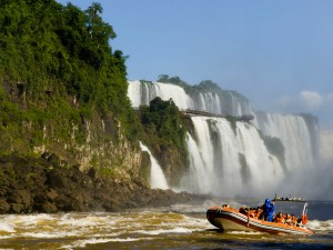 Cataracts speedboats take you close to the action at the Iguassu Falls