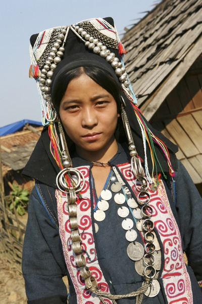 In the forests of northern Laos, the Akha people still will traditional clothing