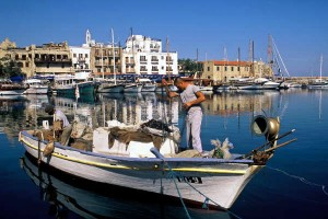Early-morning fishermen prepare their boats for a trip beyond the Kyrenia harbour's edge