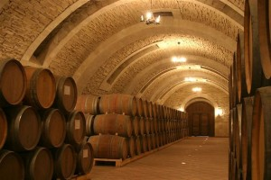 Barrels border the boulevards in a subterranean passage of Mileşti Mici, storage for the largest wine collection in the world - over 1.5 million bottles
