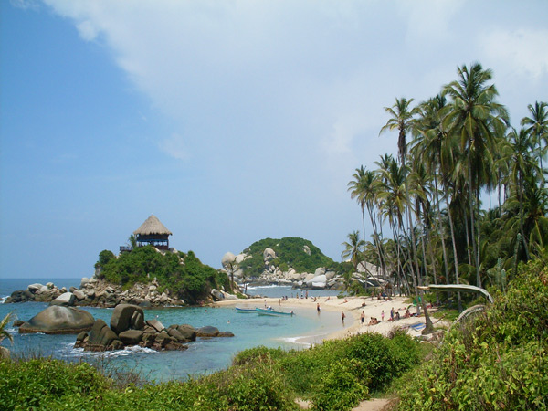 Tayrona Park is a huge natural paradise with exuberant vegetation, endless white-sand beaches and an old indigenous settlement