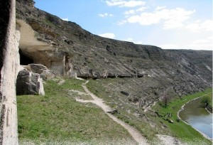 The oldest cave monasteries of Old Orhei, Moldova, are believed first to have been used in the 4th century
