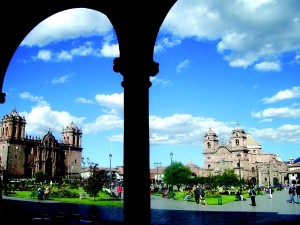 Dating back Incan times when it was believed to have been the most important ceremonial place in the city, the main Plaza de Armas of Cuscu, Peru, today boasts two impressive cathedrals that have certainly withstood the test of time